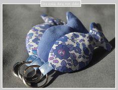 porte clé-Liberty-betsy new bleu-poisson-personnalisable