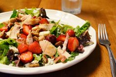 A Beautiful Mess: Strawberry Chicken Salad with Balsamic Vinaigrette