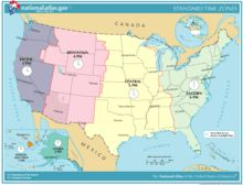 Click on map to learn about best times to call in usa with all area the united states timezones map map of time zones of the united states gumiabroncs Gallery