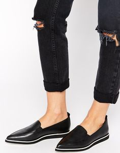 Shellys London   Shellys London Leather Slip On Shoes With Contrast Sole at ASOS
