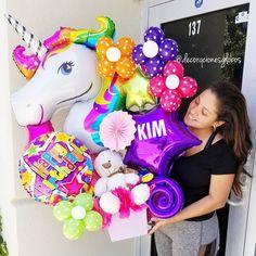 55 ideas birthday presents for kids balloons – Presents for girls Balloon Arrangements, Balloon Centerpieces, Balloon Decorations, Diy Birthday Banner, Birthday Party Decorations, Birthday Parties, Birthday Ideas, Unicorn Party, Unicorn Birthday