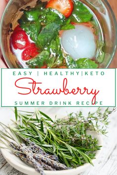 Strawberry Summer Infused Water Recipe. With fresh herbs you can use from the garden! Infused water is the best way to enjoy lots of flavor without worrying about carbs. Perfect for a refreshing hot day and to reach your #ketodiet goals. #ketogarden #gardenfreshrecipes Drink Recipes, Real Food Recipes, Keto Recipes, Healthy Recipes, Sugar Free Drinks, Sugar Free Recipes, Low Card Diet, Cooking With Fresh Herbs, Keto Carbs