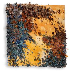 Amy Genser: mixed media (rolled up paper!), resembling coral reefs. Not only beautiful but possible adaption for an art lesson?