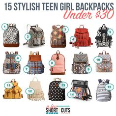 15 stylish teen girl backpacks, under $30 teen girl backpacks ...