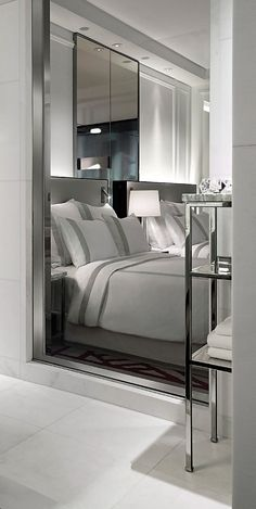 Baccarat Hotel NY, Bedroom Decor Ideas, Home Decor Ideas, bedroom design, Decor… Master Bedroom Design, Home Bedroom, Bedroom Decor, Bedroom Ideas, Designer Hotel, Hotel Interiors, Suites, Luxurious Bedrooms, Beautiful Bedrooms