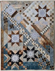 A Morning in Marblehead, 50″ x 66″, by Beth A. Schillig as seen at Quilt Views.  Mystery quilt challenge winner