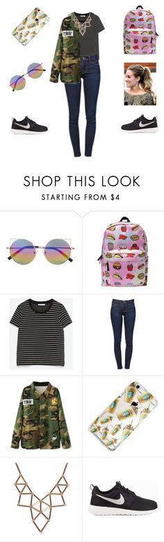 """Tumblr outfit"" by iulia-cristea ❤ liked on Polyvore featuring Linda Farrow, Zara, Frame, Escalier, Chicnova Fashion and NIKE"