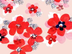 Floral pattern, Emily Isabella.