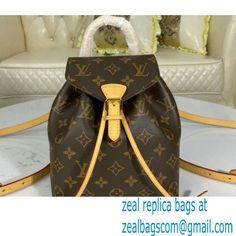 Louis Vuitton Monogram Canvas Montsouris BB Backpack Bag M45502 Natural