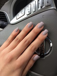 Love my new Pretty grey purplish matte polish!!(: #naillove