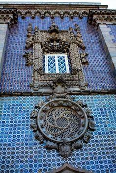 Windows of Sintra, Portugal.