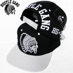 "HUSTLE GANG (hustle gang) snapback cap ""NO MATTER WHAT""BLACK/WHITE"