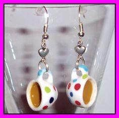 kawaii earrings | Kawaii ♥tea Cup Earrings♥ Alice in Wonderland by Dolly | eBay