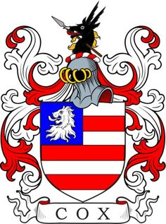 View the world's largest online library of coat of arms meanings and artwork. Family crest and coat of arms information for the surname Cox.