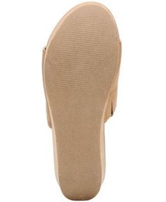 Carlos by Carlos Santana Delphina Wedge Slide Sandals - Tan/Beige 5.5M