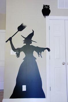 DIY Halloween : DIY Halloween Contact Paper Silhouettes