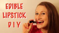 Make your own edible lipstick! This lipstick is 100% safe to eat and tastes delicious! It also makes an adorable beauty party favor!