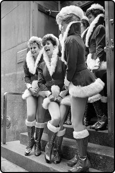 The Rockettes outside the stage entrance of Radio City Music Hall.