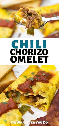 Selecting The Suitable Cheeses To Go Together With Your Oregon Wine Chorizo Chili Omelet - Easy Spicy Omelet Made On The Blackstone Griddle Or On Your Stovetop. Delicious Breakfast Recipes, Brunch Recipes, Yummy Food, Mexican Food Recipes, Real Food Recipes, Top Recipes, Mexican Dishes, Griddle Recipes, High Protein Smoothies