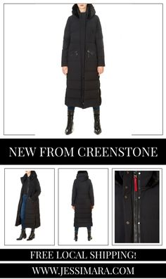 This is the 'Katy' Long Black Puffer Coat by stunning brand Creenstone. This gorgeous piece features a detachable hood, a central double zipper fastening, and side zip pockets. This is the perfect piece to carry you into the colder season! Long Black Puffer Coat, Shop Now, Pockets, Zipper, Clothing, Shopping, Collection, Fashion, Outfit