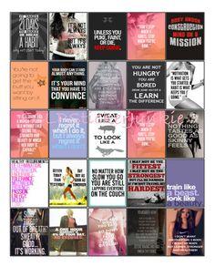 Fitness Workout Motivation Quote Stickers for Erin Condren Life Planner *Digital Download* V2