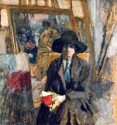 Elève dans le Louvre (1915-1916).Edouard Vuillard (French, 1868-1940). Oil on board laid down on masonite.
