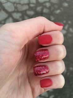 roses nails nail red