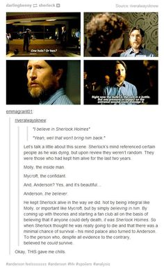 Love this. Why Anderson was in Sherlock's mind palace.