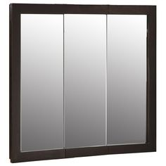 Pegasus 48 In. W X 31 In. H Frameless Recessed Or Surface Mount Tri View  Bathroom Medicine Cabinet With Beveled Mirror | Medicine Cabinets, ...