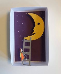 illusionin a box: meeting the man in the moon #paperart  https://www.facebook.com/1flyingdutch/