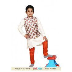 Cream Art Silk Readymade Kids Kurta with Churidar Pajama and Jacket Kids Kurta Pajama, Boys Kurta, Modi Jacket, Silk Jacket, Fashion Wear, Mens Fashion, Cream Art, Nehru Jackets, Sherwani