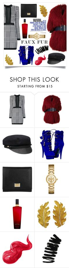 """Valentina"" by mis-panda ❤ liked on Polyvore featuring Balmain, Christian Dada, Eugenia Kim, Dolce&Gabbana, Tory Burch, Victoria's Secret, Buccellati and Bobbi Brown Cosmetics"