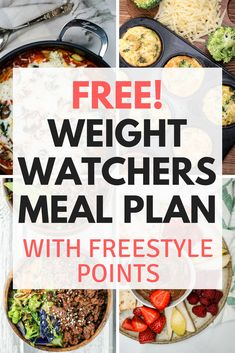 Free Weight Watchers Meal Plans with Freestyle Smartpoints, recipes, complete shopping lists