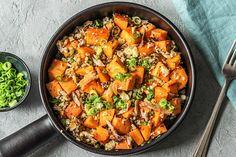 Wok, Good Food, Yummy Food, Superfoods, Paella, Thai Red Curry, Healthy Recipes, Healthy Food, Veggies