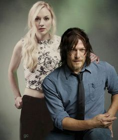 Walking dead, Emily kiney et norman reedus