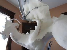 Big Dragon Gets His Paper Mache Clay Skin - Ultimate Paper Mache