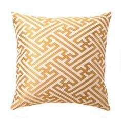 Cross Hatch Linen Pillow in Mustard