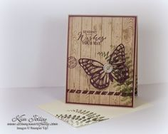 Stampin Artfully: Blissful Butterfly - SU - Butterfly Basics, Hardwood, Butterfly Thinlits die