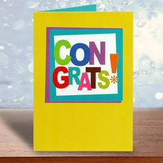 Congrats Greeting Card. Congrats!way to go!... | Rs. 60 | Shop Now | Card Size : Height :18 cm X Length : 15 cm  | https://hallmarkcards.co.in/collections/shop-all/products/buy-congratulations-cards-online