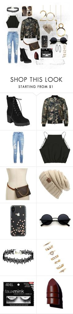 """2018"" by jaquanishaterrell on Polyvore featuring Michael Kors, Kate Spade, Forever 21 and Anastasia Beverly Hills"