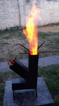 Cocina Rocket O Cohete - $ 950,00 en Mercado Libre Rocket Stove Design, Diy Rocket Stove, Rocket Heater, Rocket Stoves, Jet Stove, Outdoor Wood Fireplace, Rim Fire Pit, Diy Wood Stove, Diy Heater
