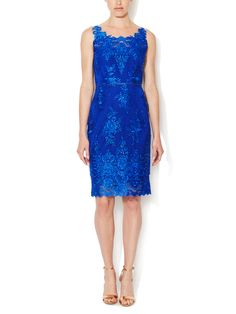Tulle Embroidered Sheath Dress by Notte By Marchesa at Gilt, $399 :( but love the color!