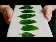 This is a super simply method of frying herbs to keep them perfectly flat and completely in tact using equipment you have at home. For these flat fried herbs. Authentic Mexican Recipes, Veggie Recipes, Cooking Recipes, Veggie Food, Cooking Tips, Food Plating Techniques, Food Garnishes, Dehydrated Food, Food Decoration