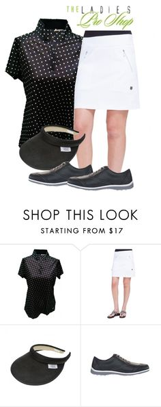 Black and White Ladies Golf Outfit by theladiesproshop on Polyvore featuring Jamie Sadock and FootJoy