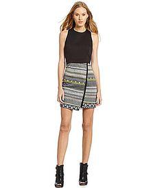 trina Trina Turk Lilly DecoStripe FauxWrap Dress #Dillards