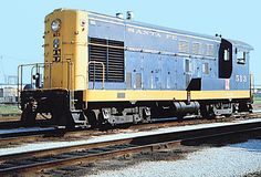 Santa Fe FM H12-44 diesel electric switcher # 513, is seen at Corwith Railroad Yard, Chicago, Illinois, 08-12-1969