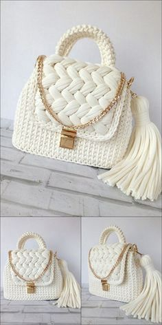 Diy Crafts - Modish And Lovable Crochet Pattern Ideas Right Here - Diy Crafty Bag Pattern Free, Bag Patterns To Sew, Knitting Patterns, Crochet Patterns, Pattern Ideas, Tote Pattern, Sewing Patterns, Diy Crochet Bag, Crochet Bag Tutorials