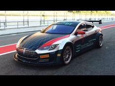 El primer Tesla Model S de competición, en vídeo