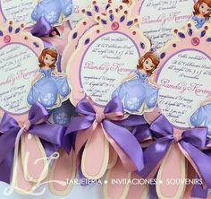 Sofia the invitation Princess Sofia Birthday, Sofia The First Birthday Party, 3rd Birthday Parties, Princess Party, Tangled Birthday, Pop Up Invitation, Birthday Invitations, Customized Invitations, Princesa Sophia