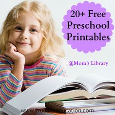 20+ Free Preschool Printables at Mom's Library Free Resources!